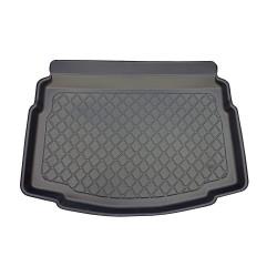 Bandeja de plastico antideslizante Volkswagen Golf VII 10.2012- con rueda de repuesto pequeña, piso de maletero bajo / profundo (también se puede utilizar con piso de maletero alto)