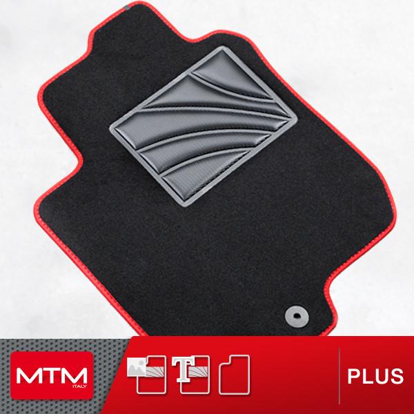 Lupex Shop Tpmis4fix Giulietta.14/Alfombrillas Coche de moqueta con Logo para Giulietta del 2014/con 4/Clip