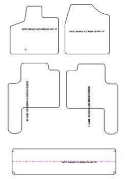 alfombrillas de coche chrysler grand voyager v 2008 a. Black Bedroom Furniture Sets. Home Design Ideas